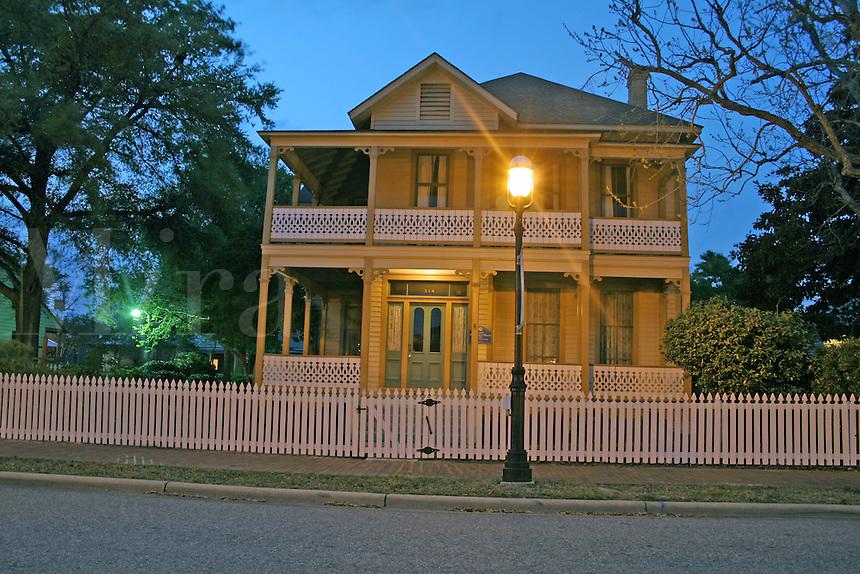Evening lighting Lear Rocheblave House Historic Pensacola Village Pensacola Florida