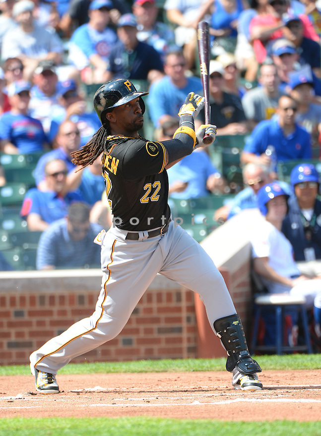 Pittsburgh Pirates Andrew McCutchen (22) during a game against the Chicago Cubs on September 5, 2014, at Wrigley Field in Chicago, IL. The Pirates beat the Cubs 5-3.