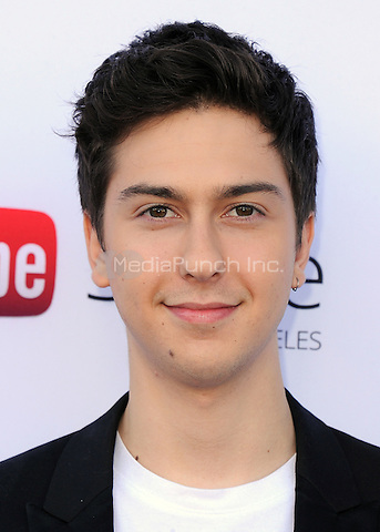 "LOS ANGELES, CA - MAY 14:  Nat Wolff at ""The Fault In Our Stars"" Live Stream Event at YouTube Space LA on May 14, 2014 in Los Angeles, California. Credit:  PGSK/MediaPunch"