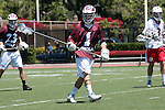 Orange, CA 05/01/10 - Marc Napp (LMU # 1) in action during the LMU-Chapman MCLA SLC semi-final game in Wilson Field at Chapman University.  Chapman advanced to the final by defeating LMU 19-10.