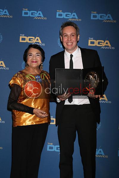 Dolores Huerta, Tim Wardle<br /> at the 71st Annual Directors Guild Of America Awards Press Room, Dolby Ballroom, Hollywood, CA 02-02-19<br /> David Edwards/DailyCeleb.com 818-249-4998