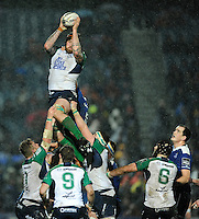 01/01/2016;Guinness PRO12 Round 11 - Leinster v Conacht, RDS, Dublin.<br /> Connacht&rsquo;s Aly Muldowney wins a lineout.<br /> Photo Credit: actionshots.ie/Tommy Grealy