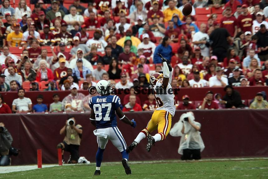 WR Reggie Wayne (Colts) gegen CB Josh Wilson (Redskins)
