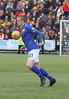 Iain Wilson in the SPFL Ladbrokes Championship football match between Queen of the South and Partick Thistle at Palmerston Park, Dumfries on  4.5.19.