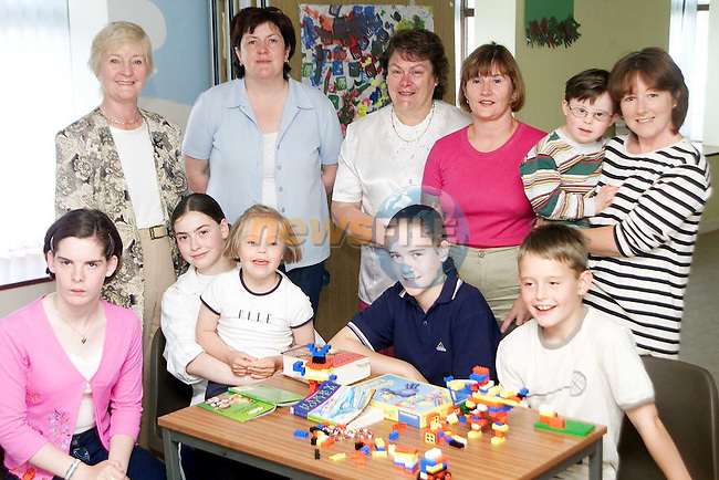 Conor O'Dowd, Caoimhe Levins, Niamh Flannery, Sharon Monahan, Tracey Carberry, Stephen Flannery, Evelyn Higgins, Mildred Carroll, Louise Sarsfield, Geraldine Lennon and Audrey O'Dowd at the Rowan Heights Community House..Picture Paul Mohan Newsfile