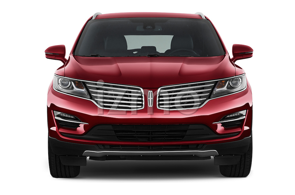 Car photography straight front view of a 2015 Lincoln MKC FWD 5 Door SUV Front View
