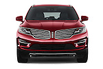 Car photography straight front view of a 2018 Lincoln MKC FWD 5 Door SUV Front View