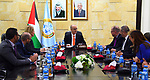 Palestinian Prime Minister, Rami Hamdallah, meets with a delegation of the German parliamentary in the West Bank city of Ramallah, on March 6, 2019. Photo by Prime Minister Office