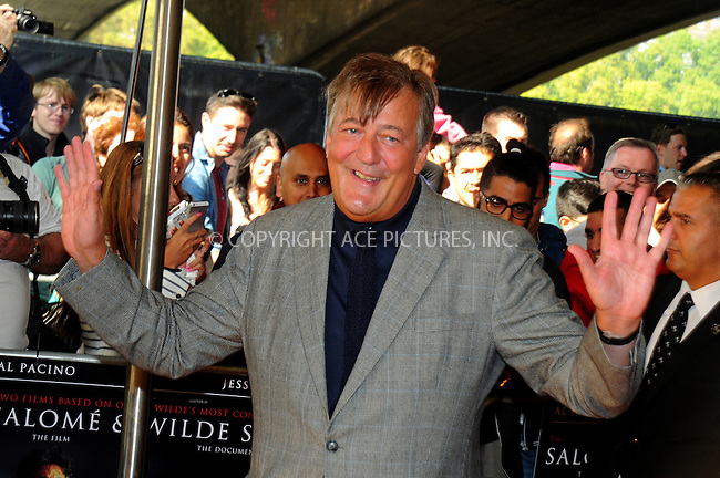 ACEPIXS.COM<br /> <br /> September 21 2014, London<br /> <br /> Stephen Fry attending a screening of 'Salome and Wilde Salome' at BFI Southbank on September 21, 2014 in London, England.<br /> <br /> By Line: Famous/ACE Pictures<br /> <br /> ACE Pictures, Inc.<br /> www.acepixs.com<br /> Email: info@acepixs.com<br /> Tel: 646 769 0430