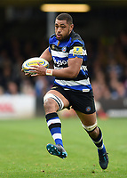 Taulupe Faletau of Bath Rugby in possession. Aviva Premiership match, between Bath Rugby and Worcester Warriors on October 7, 2017 at the Recreation Ground in Bath, England. Photo by: Patrick Khachfe / Onside Images