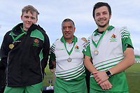 Match officials after the 2019 Manawatu premier women's club rugby Prue Christie Cup final match between Feilding Old Boys Oroua and Kia Toa at CET Arena in Palmerston North, New Zealand on Saturday, 13 July 2019. Photo: Dave Lintott / lintottphoto.co.nz