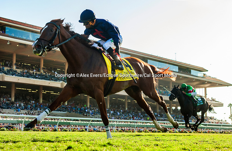 August  16 2014: Personal Diary with Corey Nakatani up wins the Del Mar Oaks GI at Del Mar Race Track in Del Mar CA. Alex Evers/ESW/CSM