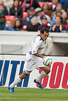 San Jose Earthquakes' Landon Donovan. DC United defeated the San Jose Earthquakes 2 to 1 during the MLS season opener at RFK Stadium, Washington, DC, on April 3, 2004.