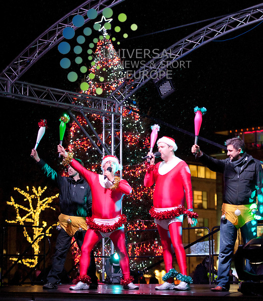 Edinburgh's Christmas 2011 will burst into life with Light Night celebrations. Performers showcase at Edinburgh's Got Talent. Picture: Pavol Mraz/Universal News And Sport (Scotland). 24/ November 2011.