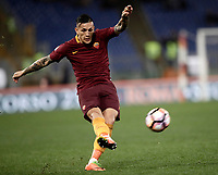 Calcio, Serie A: Roma, stadio Olimpico, 19 marzo, 2017<br /> Roma's Leandro Paredes in action during the Italian Serie A football match between Roma and Sassuolo at Rome's Olympic stadium, March 19, 2017<br /> UPDATE IMAGES PRESS/Isabella Bonotto