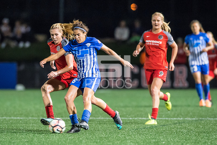 Boston, MA - Sunday September 10, 2017: Allie Long and Angela Salem during a regular season National Women's Soccer League (NWSL) match between the Boston Breakers and Portland Thorns FC at Jordan Field.