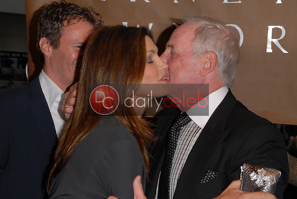 """Cindy Crawford and Jerry Weintraub<br /> at a celebration of Jerry Weintraub's New Book """"When I Stop Talking You'll Know I'm Dead,"""" Barney's New  York, Beverly Hills, CA. 05-18-10<br /> David Edwards/Dailyceleb.com 818-249-4998"""