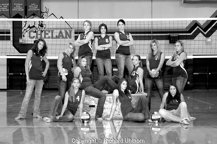 This successful volleyball team has an attitude that carries over into their high school volleyball season every year. This team, a part of the Caribou Trail League in North Central Washington, participated in the Washington Interscholastic Athletic Association 1A State Volleyball Championships for the seventh straight year in 2007. In rural American, high school athletic participation is huge part of the rural social fabric.