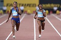 Elaine THOMPSON (JAM)  wins the race 100m Women<br /> Roma 06-06-2019 Stadio Olimpico, <br /> IAAF Diamond League Golden Gala<br /> Meeting Atletica Leggera <br /> Photo Cesare Purini / Insidefoto