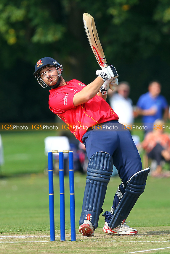 Jaik Mickleburgh in batting action for Essex - Upminster CC vs Essex CCC - Alastair Cook Benefit Match at Upminster Park, Upminster, Essex - 07/09/14 - MANDATORY CREDIT: Gavin Ellis/TGSPHOTO - Self billing applies where appropriate - 0845 094 6026 - contact@tgsphoto.co.uk - NO UNPAID USE
