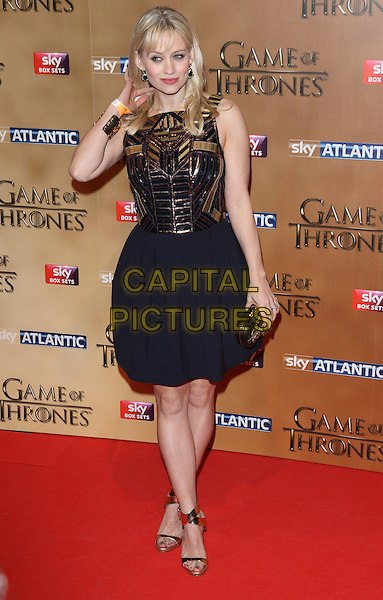LONDON, ENGLAND - MARCH 18: Kimberly Wyatt arrives for the world premiere of Game of Thrones Season 5 at Tower of London on March 18, 2015 in London, England<br /> CAP/ROS<br /> &copy; Steve Ross/Capital Pictures