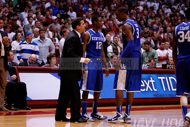 Coach Cal yells at Terrence Jones in the second half of the UK men's basketball loss, 68-66, against the Alabama Roll Tide at Coleman Arena  on Jan. 18, 2011. Photo by Britney McIntosh | Staff