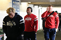 Siale Piutau and the rest of the Bristol Bears team arrive at Welford Road. Gallagher Premiership match, between Leicester Tigers and Bristol Bears on April 27, 2019 at Welford Road in Leicester, England. Photo by: Patrick Khachfe / JMP