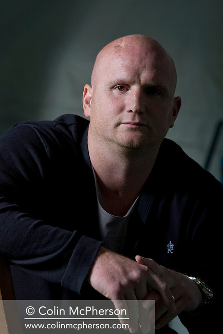 Former Wales international soccer player John Hartson, pictured at the Edinburgh International Book Festival where he talked about his personal account of his struggle to beat testicular cancer. The three-week event is the world's biggest literary festival and is held during the annual Edinburgh Festival. The 2011 event featured talks and presentations by more than 500 authors from around the world.