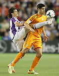 Real Valladolid's Alvaro Rubio (l) and Real Madrid's Alvaro Morata during La Liga match.May 7,2014. (ALTERPHOTOS/Acero)