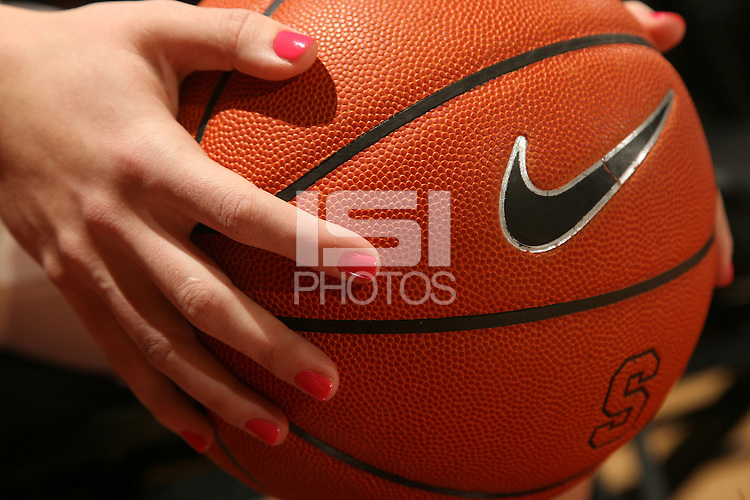 STANFORD, CA - FEBRUARY 14:  Pink nail polish worn by guard Jeanette Pohlen #23 of the Stanford Cardinal during Stanford's 58-41 win against the California Golden Bears on February 14, 2009 at Maples Pavilion in Stanford, California.