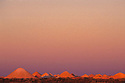 Opal mining dumps in sunset afterglow. Coober Pedy, South Australia