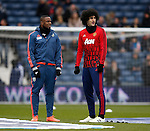 Former Everton players Victor Anichebe of West Bromwich Albion and Marouane Fellaini of Manchester United - English Premier League - West Bromwich Albion vs Manchester Utd - The Hawthorns Stadium - West Bromwich - England - 6th March 2016 - Picture Simon Bellis/Sportimage