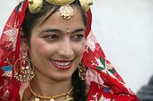 Vaisakhi Mela - Sikh New Year Celebrations in London. Dancer with costume