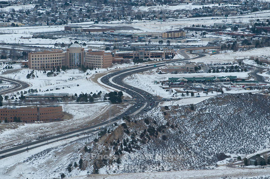US-6 just before it meets C-470 near Golden, Colorado, Thursday, January 12, 2012. Golden is voting on weather or not to .complete the beltway around Denver...Photo by Matt Nager