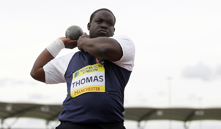 Photo: Paul Thomas/Richard Lane Photography..Norwich Union World Trials and AAA Championships. 28/07/2007...Jay Thomas during the men's shot put.