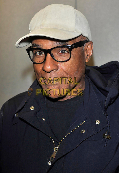 Michael Dorn.Collectormania 18 at Stadium: MK, Milton Keynes, Buck, England..3rd June 2012.headshot portrait beige hat glasses blue jacket.CAP/JIL.©Jill Mayhew/Capital Pictures..