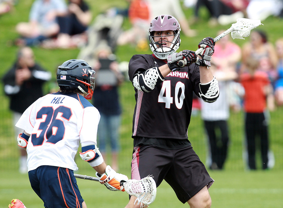 Bellarmine's Jack Perkins (40) during the game against Virginia at Klockner Stadium in Charlottesville, VA. Photo/Andrew Shurtleff
