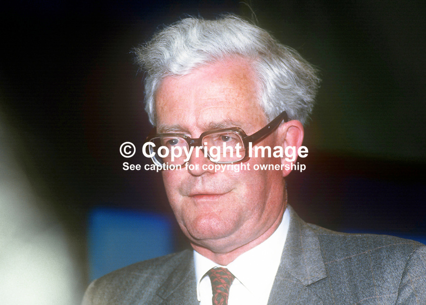 Douglas Hurd, Home Secretary, UK, MP, Conservative Party, May 1986, 19860605DH1<br />