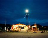 ARGENTINA, Patagonia, illuminated restaurant at night