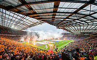Picture by Allan McKenzie/SWpix.com - 07/10/2017 - Rugby League - Betfred Super League Grand Final - Castleford Tigers v Leeds Rhinos - Old Trafford, Manchester, England - The brief, A general view, gv, of Castleford and Leeds taking to the field for the Super League Grand Final.