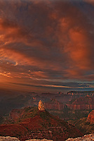749220332c sunrise lights up mount hayden at point imperial under a blanket of high clouds during summer at the north rim of grand canyon national park in arizona