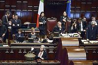 Roma, 20 Aprile 2013.Camera dei Deputati.Votazione del Presidente della Repubblica a camere riunite..Rosy Bindi al voto