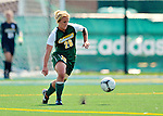 26 August 2012: University of Vermont Catamount midfielder Katie Deppen in action against the Fairfield University Stags at Virtue Field in Burlington, Vermont. The Stags defeated the Lady Cats 1-0. Mandatory Credit: Ed Wolfstein Photo