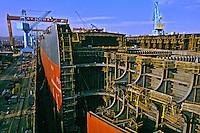 Indústria de construção naval. Ulsan. Coréia do Sul. 1999. Foto de Ricardo Azoury.