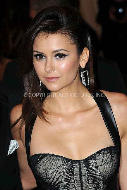 WWW.ACEPIXS.COM....May 6 2013, New York City....Nina Dobrev arriving at the Costume Institute Gala for the 'PUNK: Chaos to Couture' exhibition at the Metropolitan Museum of Art on May 6, 2013 in New York City.....By Line: Kristin Callahan/ACE Pictures......ACE Pictures, Inc...tel: 646 769 0430..Email: info@acepixs.com..www.acepixs.com