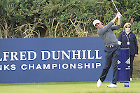 Robert Dinwiddie (ENG) on the 10th tee during Round 3 of the 2015 Alfred Dunhill Links Championship at Kingsbarns in Scotland on 3/10/15.<br /> Picture: Thos Caffrey | Golffile