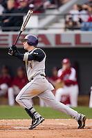 Jamie Ray (4) of the East Carolina Pirates follows through on his swing versus the South Carolina Gamecocks at Sarge Frye Field in Columbia, SC, Sunday, February 24, 2008.