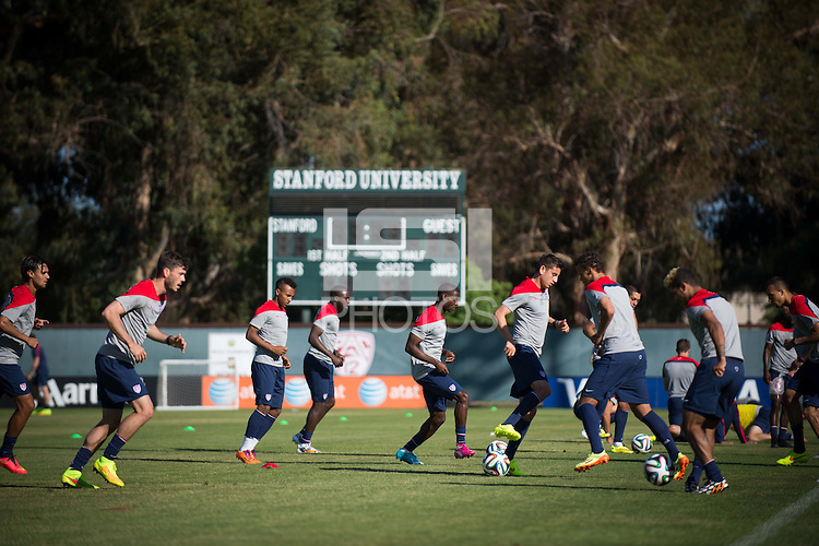 Stanford, CA - Sunday, May 18, 2014:  USMNT training at Cagan Stadium, Stanford University.