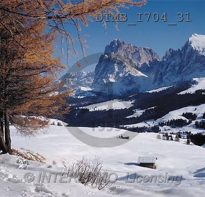 Gerhard, CHRISTMAS LANDSCAPE, photos, langkofel(DTMBI704-31,#XL#) Landschaften, Weihnachten, paisajes, Navidad