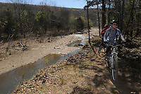 NWA Democrat-Gazette/FLIP PUTTHOFF <br /> Biking or hiking on the Fossil Flats Trail features nice views of Lee Creek, seen here April 2, 2016, which runs through the heart of Devil's Den State Park.